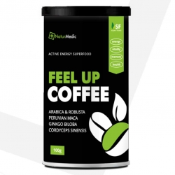 FEEL UP KÁVA: Maca + Ginkgo + Cordyceps